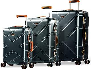 Eminent Gold Set di valigie Crossover 3pcs Valigie rigide 4 Ruote doppie silenziose Policarbonato & Telaio in alluminio Lu...