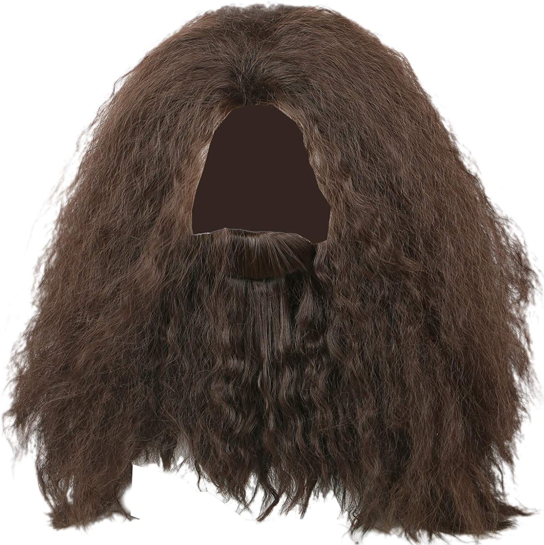 EC Hagrid Cosplay Wig Curly Black Fluffy Cospla Max 65% OFF Luxury goods Hair Long Useful