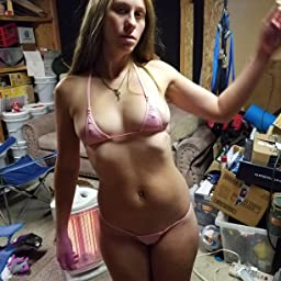 Micro bikini customer pics Amazon Com Customer Reviews Iefiel Women Micro G String Bikini 2 Piece Sliding Top Thong Small Bra Mesh Black