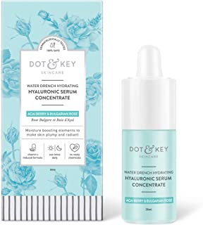 Dot & Key Water Drench Hydrating Hyaluronic Serum Concentrate 30ml, hyaluronic acid serum with vitamin C for dry skin