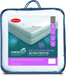Tontine T6219 Comfortech Soft Cotton Mattress Protector, King Single Bed
