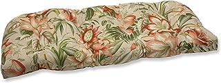 Pillow Perfect Outdoor Botanical Glow Tiger Stripe Wicker Loveseat Cushion
