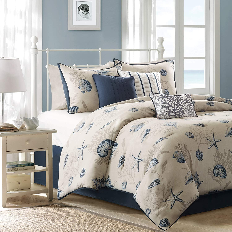 Madison Park MP10-504 Bayside Comforter Set, bluee