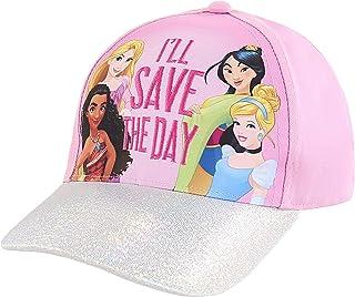 قبعات ديزني للأطفال للبنات الصغار من سن 4-7 قبعات بيسبول الأميرة
