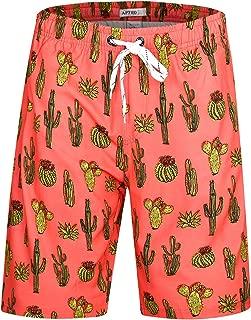 Men's Quick Dry Swim Trunks Long Elastic Waistband Swimwear Bathing Suits with Pockets