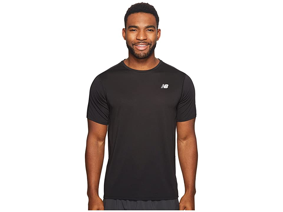 New Balance Accelerate Short Sleeve (Black) Men