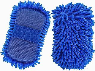 Tavaleu Car Wash Sponge - 2 Pack Car Wash Mitt, Non-Scratch Car Sponges for Washing, Premium Microfiber Sponge for Car Was...