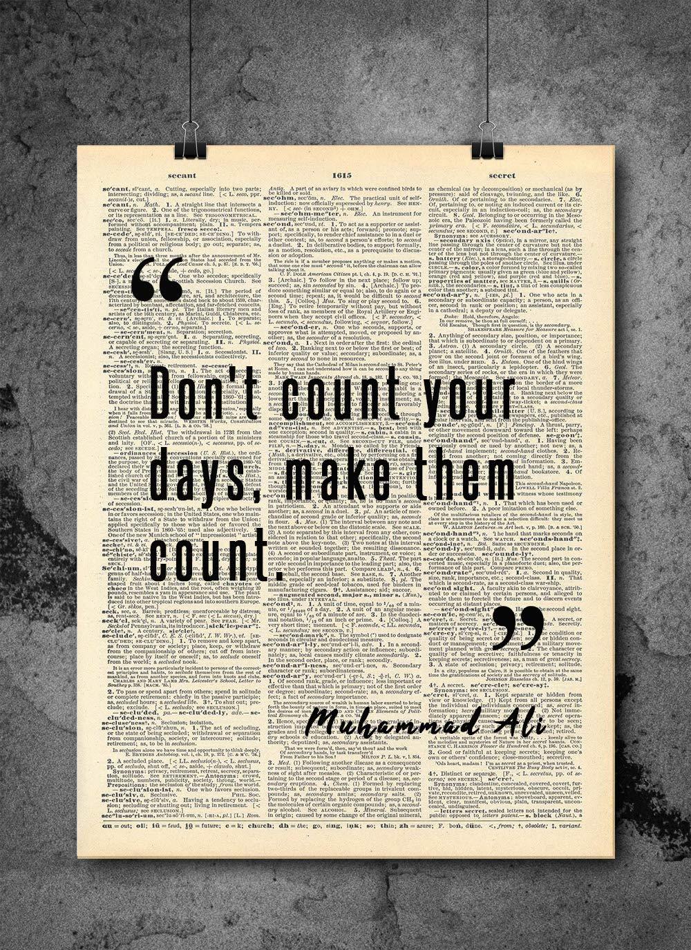 Muhammad Ali Max 81% OFF - San Antonio Mall Don't Count Your Vintage Them Days Q Make