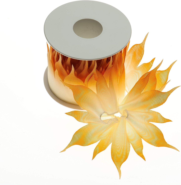 Sfumato Arancio, 7 Sun Nastro portaconfetti con Tirante sfumato in Organza Made in Italy per bomboniere e Decorazioni di Ogni Evento