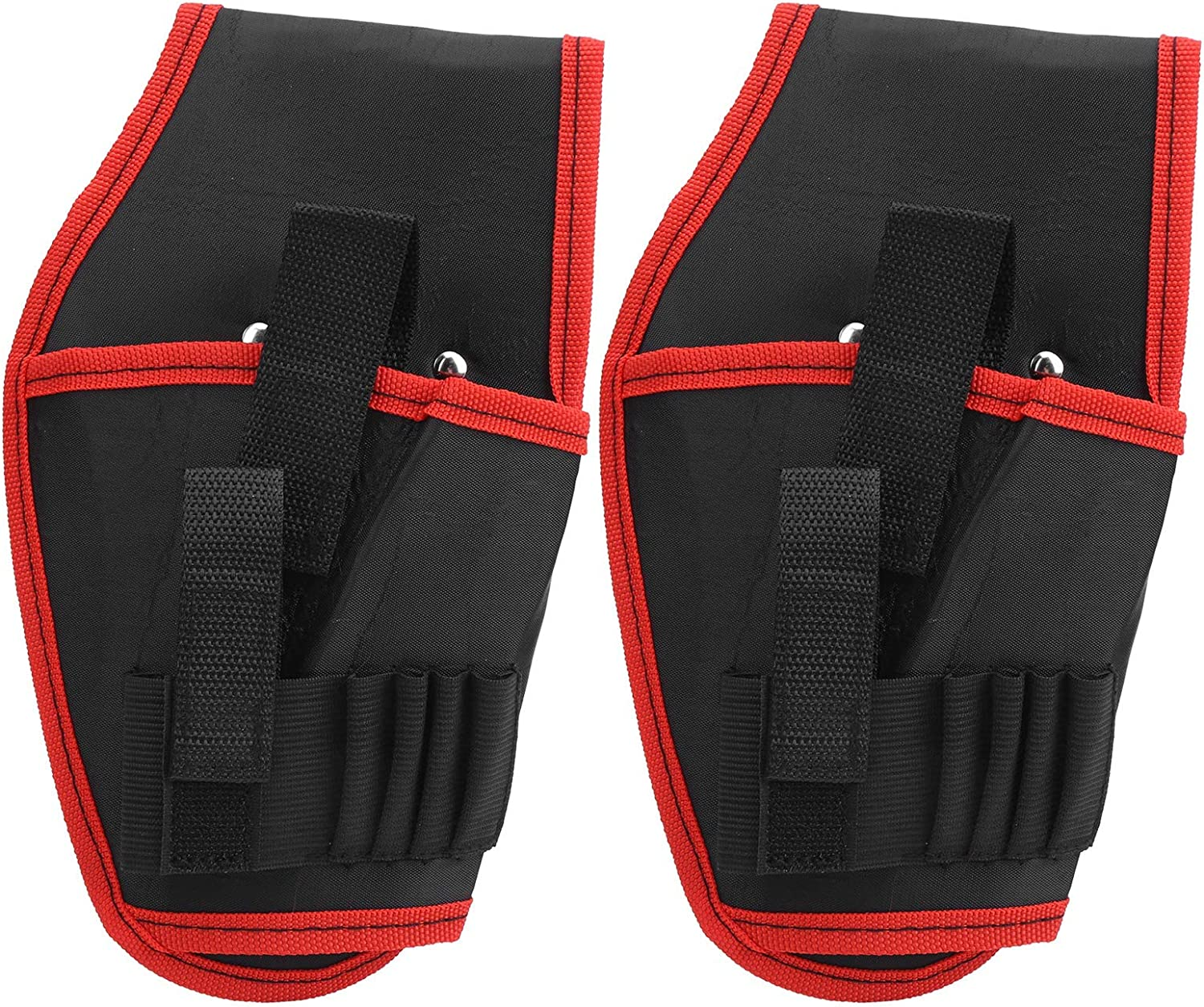 Diydeg Drill Holster, 2Pcs Good Wear Resistance Electric Drill Tool Belt Bag Adjustable for Drill Bits for Tools