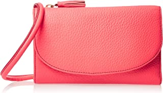 Fossil Sophia On A String Trifold Wallet for Women - Leather, Peach