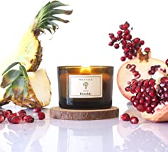 Pristine Honolulu Scented Candles for Home Scented | Wood Wicked Candles | Cranberry & Pomegranate, White Mini Candles |3 ...