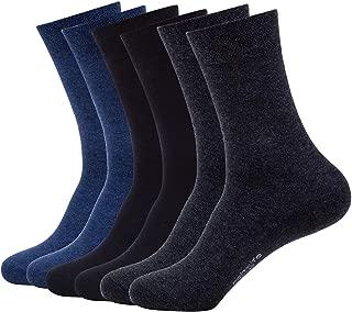 Mens Classic Cotton Dress Socks Thin Lightweight for Office Business Unisex Non-binding Comfortable Casual Crew Socks Black