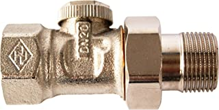 TA Heimeier 0356-03.000 - Hk detentor REGUTEC directamente a través de 3/4 de pulgada de níquel bronce plateado