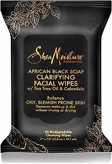 Shea Moisture Makeup Remover Face Wipes, African Black Soap, With Tea Tree Oil & Calendula