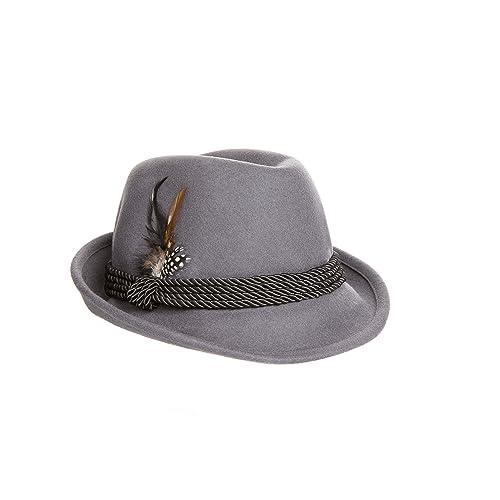 da8df976cbb Holiday Oktoberfest Wool Bavarian Alpine Hat - Gray Color - Size Extra Large