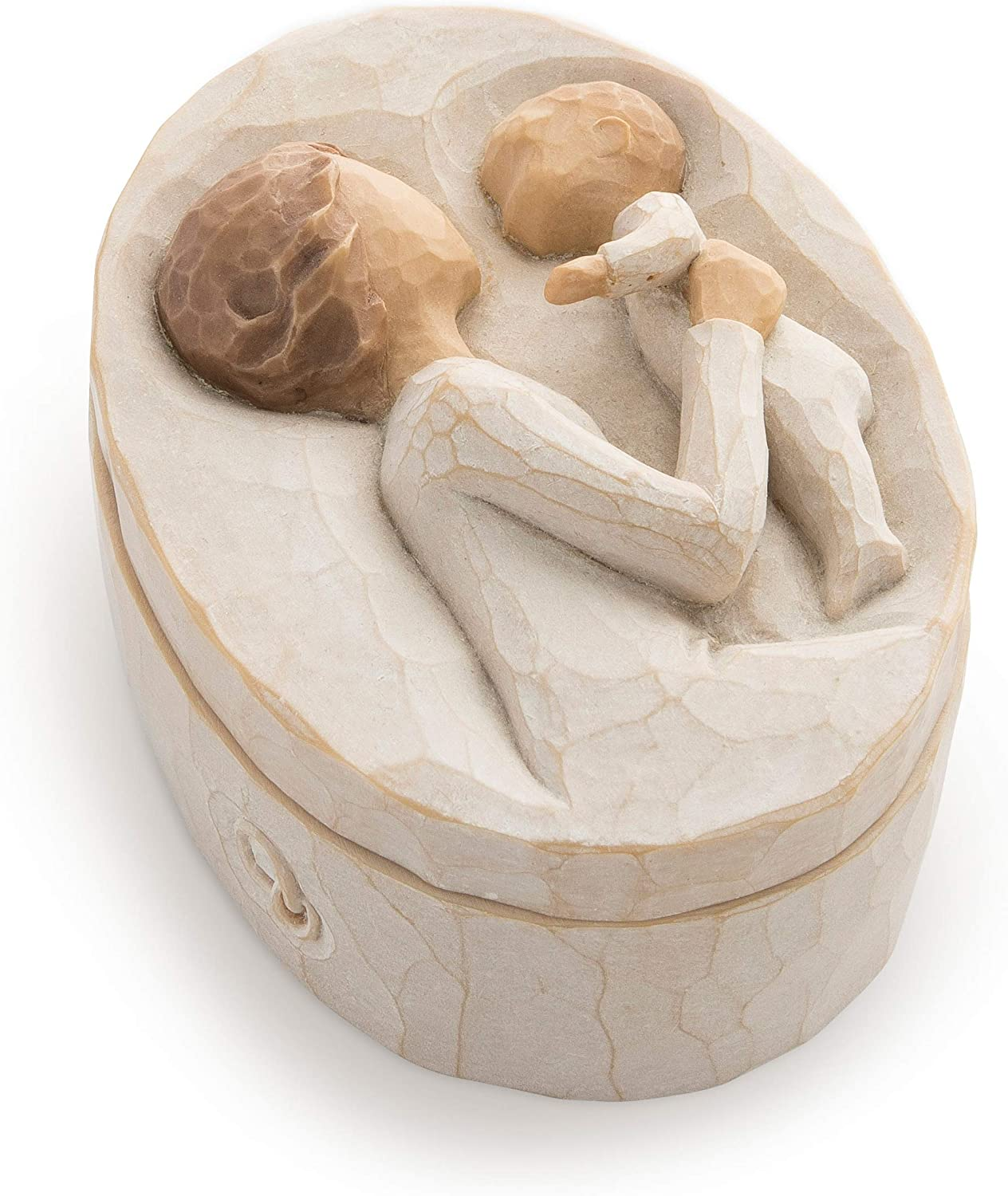 Willow Tree Fashionable Grandmother Sculpted Hand-Painted Box Keepsake Outstanding