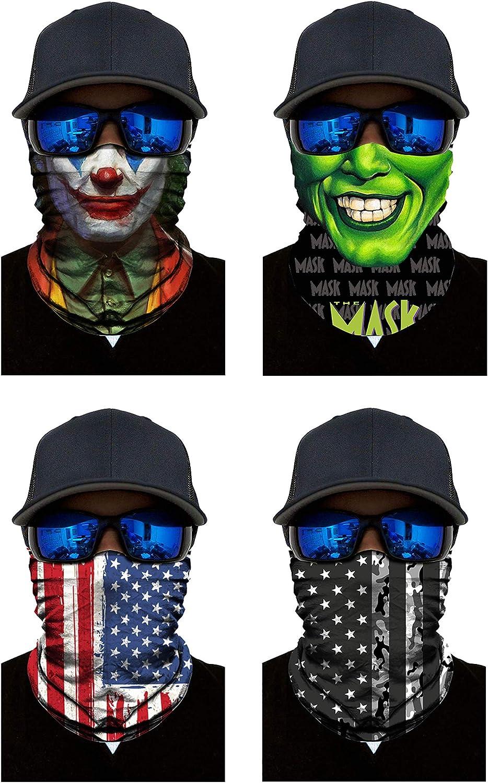 Financial sales sale 4PCS Skull Balaclavas Camouflage Bandanas Head Mask Face 5 ☆ popular Wrap Wi