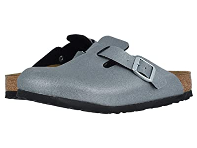 Birkenstock Boston Icy Metallic Birko-Flortm (Anthracite Birko-Flortm) Women