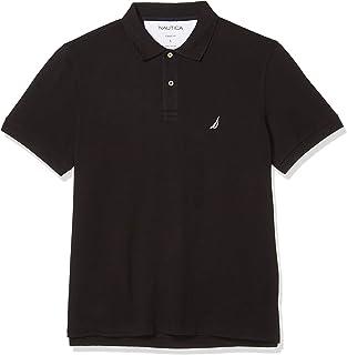 NAUTICA Mens K51701 Short Sleeve Solid Cotton Pique Polo Shirt Short Sleeve Polo Shirt