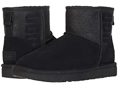 UGG Classic Mini Sparkle (Black) Women