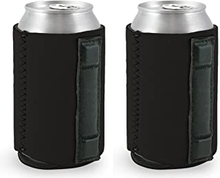 Magnetic Neoprene Collapsible Can Coolie (2, Black)