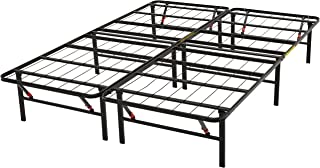 AmazonBasics Foldable Platform Bed Frame - Tool-Free Assembly - Under-Bed Storage -