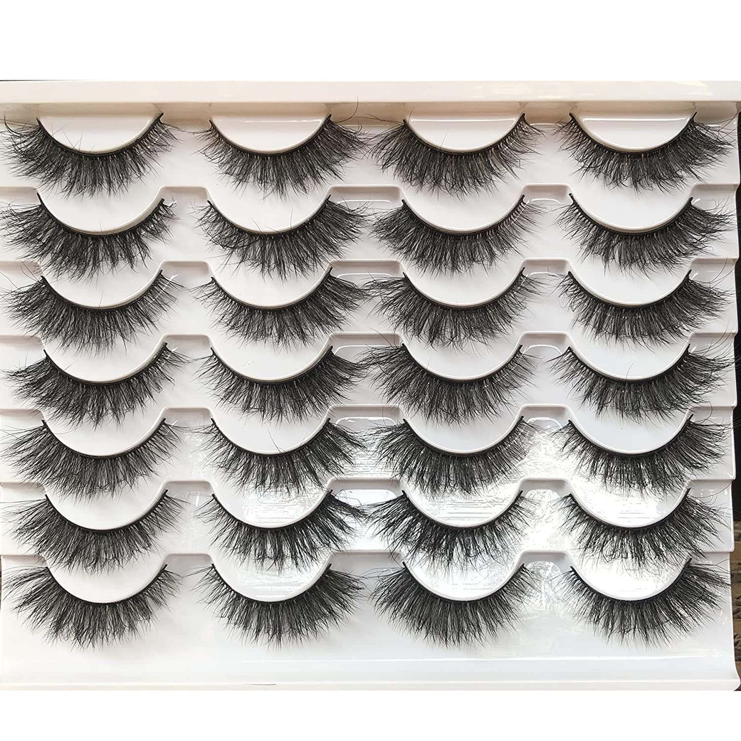 HOHADBR Fake Eyelashes Natural Clearance SALE Limited time Look 12mm 3D Short Ranking TOP16 Small False Ey