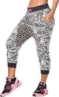Zumba Women's Soft Breathable Activewear Harem Capri Workout Pants
