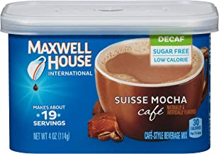 Maxwell House International Decaf Suisse Mocha Instant Coffee (4 oz Canister)