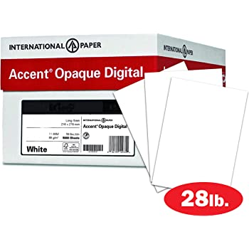 Amazon Com Accent Opaque Printer Paper White Paper 28lb Copy Paper 11x17 Paper 4 Ream Case 2 000 Sheets Smooth Finish 109405c Office Products