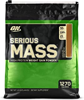 OPTIMUM NUTRITION Serious Mass Weight Gainer Protein Powder, Chocolate Peanut Butter, 12 Pound