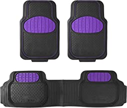 FH Group F11500PURPLE Purple Heavy Duty Touchdown Rubber Floor Mat (Purple Full Set Trim to Fit)