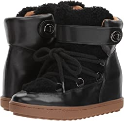Black/Black Shearling Calf/Shearling