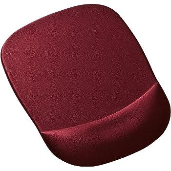 サンワサプライ 低反発リストレスト付きマウスパッド 腕・肩の疲労軽減 ワインレッド MPD-MU1NWR
