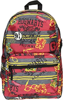 Harry Potter Hogwarts School of Witchcraft and Wizardry Alumni Patch Gryffindor Allover Print Backpack Book Bag