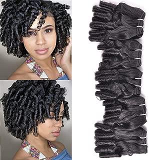 New Funmi Curly Human Hair Weave 5 Bundles Peruvian Unprocessed Virgin Cuticle Aligned Salon Hair Afro Curls Spring Spiral Hairstyle Bundles Weft Natural Color 250Gram/lot(12 12 12 14 14, New Funmi)