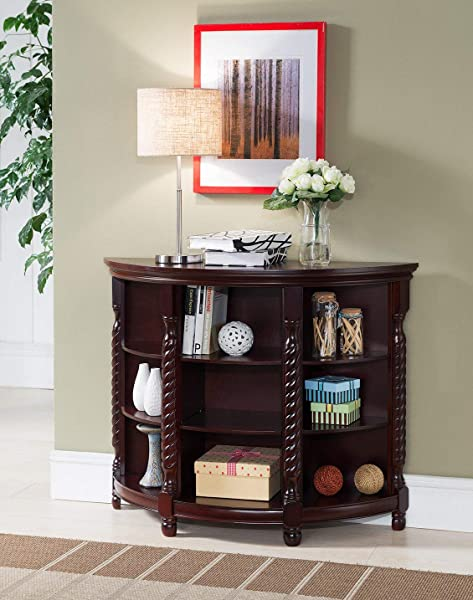 Kings Brand Furniture Wood Entryway Buffet Console Sofa Table Cherry