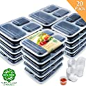 20 Pack Enther Meal Prep Containers with Lids
