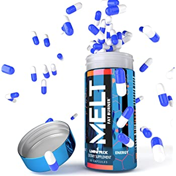 MELT ✮ Best Thermogenic Fat Burner Pills for Men & Women ✮ Diet Pills That Work Fast for Weight Loss ✮ Real Results Guaranteed ✮ 60 Capsules (Capsules are no Longer Blue/White)
