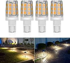 Kohree 2.5W LED Replacement Landscape Pathway Light Bulb 12V AC/DC Wedge Base T5 T10 for Malibu Paradise Moonrays and more (4 Pack, 3000K, Warm White/Soft White)