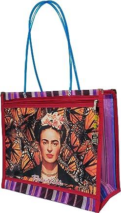 FRIDA KAHLO *MARIPOSAS MONARCAS*. Bolsa de Mujer en Malla Multiusos, 38 x
