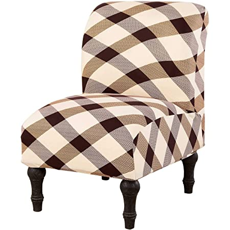 YUER Armless Chair Slipcovers Repellent Chair Covers Stretch Couch Cover Removable Furniture Protector Covers for Home Hotel Beige One Size
