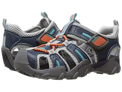 pediped Canyon Flex (Toddler/Little Kid/Big Kid) (Teal/Orange) Boys Shoes