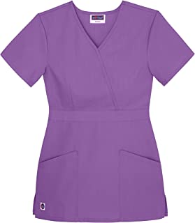 Women's Scrubs Mock Wrap Top (Available in 12 Colors)