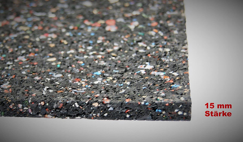 Bautenschutzmatte Gummigranulatmatte Kofferraummatte Bodenschutzmatte Bodenbelag Gummi schwarz Gummimatte Anti-Vibrationsmatte Antirutschmatte 1000 x 125 x 2 cm lfd. Gummimatte Meterware