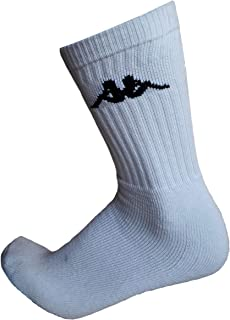 6/12 pares de calcetines, calcetines deportivos de esponja, altura media pantorrilla, calcetines de tenis, calcetines de trekking para hombre y mujer, varios modelos 6 Paia Bianco 39-41