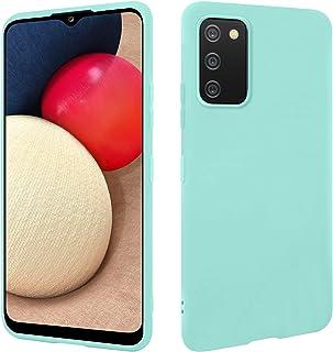 HSP Turquoise hoes compatibel met Samsung Galaxy A02s | Premium TPU siliconen case | krasbestendig schokbestendig | mat op...