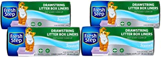 Fresh Step Drawstring Large Litter Box Liners | Heavy Duty Liners for Cat Litter Box | Quick & Easy Cleanup, Scented, Larg...