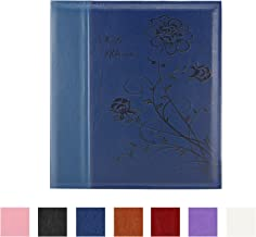 Artmag Photo Picutre Album 4x6 Photos, Extra Large Capacity Leather Cover Wedding Family Photo Albums Holds 600 Horizontal and Vertical 4x6 Photos with White Pages(Blue)